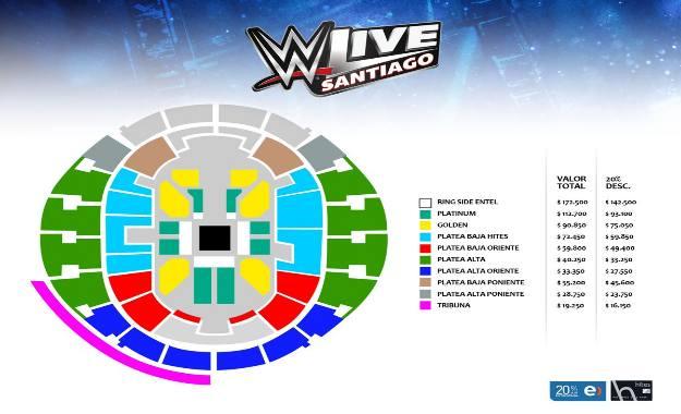 WWE Chile Confirmada una nueva visita de RAW a Santiago