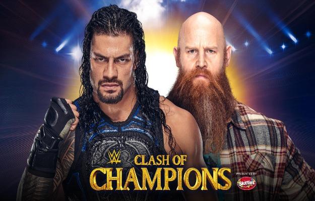 WWE Clash Of Champions 2019 Roman Reigns vs Erick Rowan