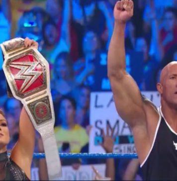 WWE SmackDown_ The Rock ataca a Baron Corbin con la ayuda de Becky Lynch