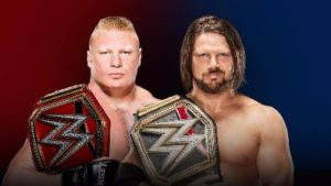 WWE Survivor Series Brock Lesnar vs. AJ Styles