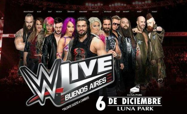 WWE volverá a Argentina el próximo mes de Diciembre Entradas ya a la venta para WWE Argentina 6 de Diciembre