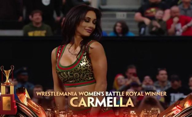 Carmella WrestleMania Women's BattleRoyal