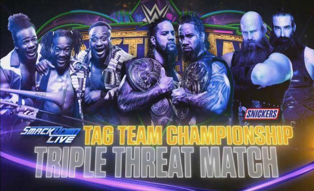 combate por los campeonatos por pareja de SmackDown en Wrestlemania 34