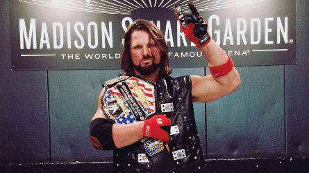 AJ Styles con el WWE Championship