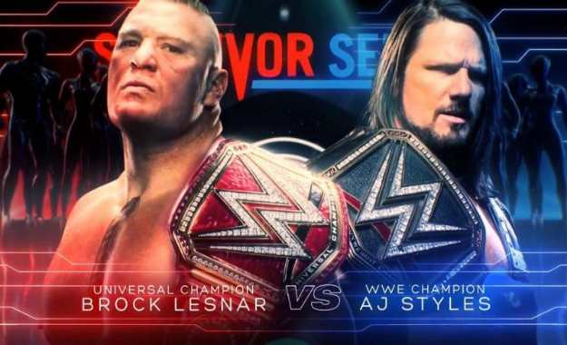 Brock Lesnar vs AJ Styles oficial en WWE Survivor Series