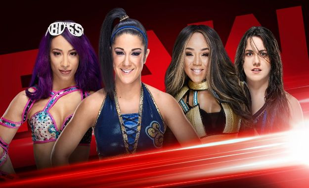 Sasha banks y Bayley vs Nikki Cross y Alicia Fox