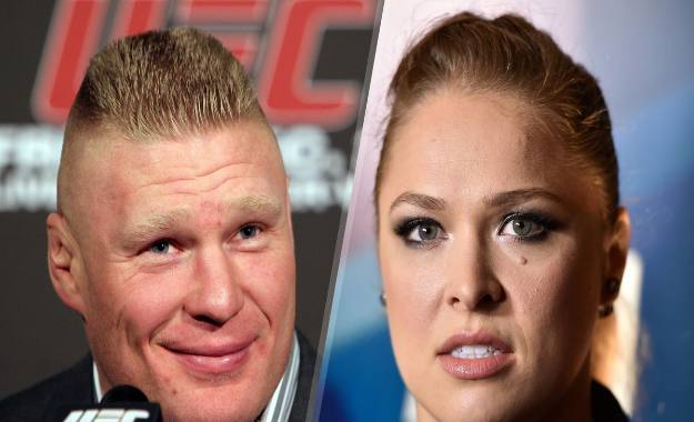 Lesnar Rousey evento wwe