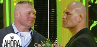 Brock Lesnar vs Cain Velasquez en Crown Jewel: Careo en Español