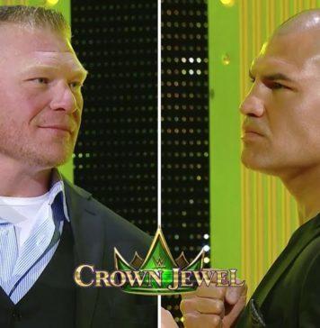 Brock Lesnar vs Cain Velasquez en Crown Jewel: Careo en Español