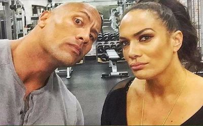 Nia Jax y The Rock