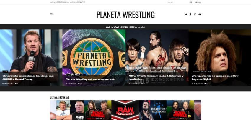 planeta wrestling web