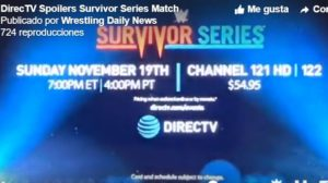 Survivor Series Spoiler
