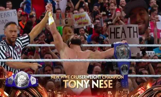 Tony Nese WWE Cruiserweight Champion
