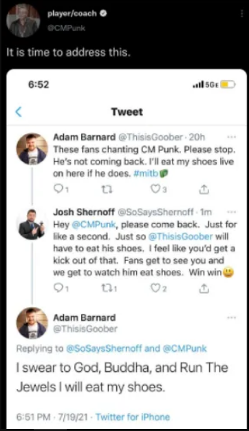 CM Punk Tweet